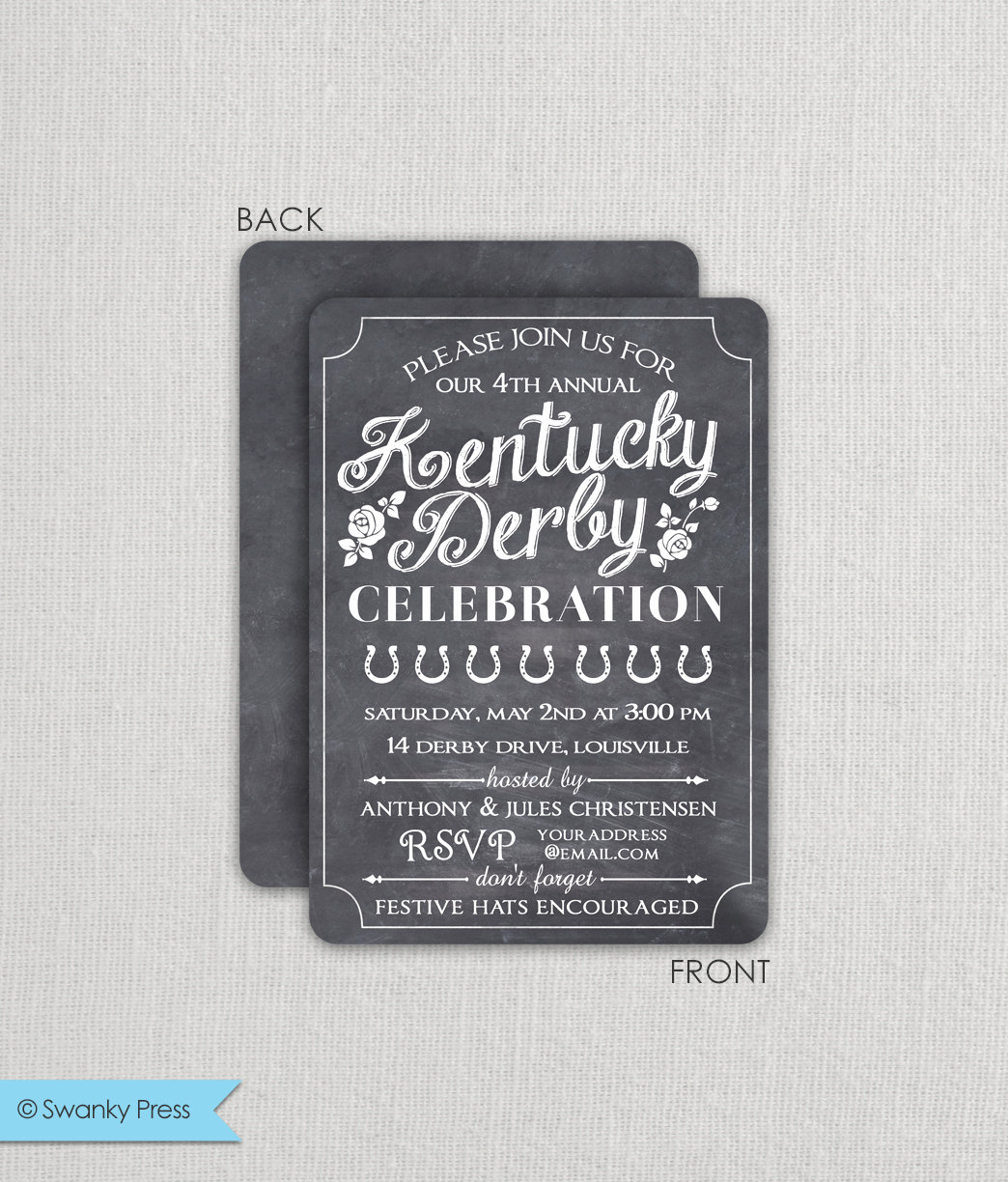 Kentucky Derby Party Invitation Wording Luxury Kentucky Derby Invitation Derby Party Invitation Run for