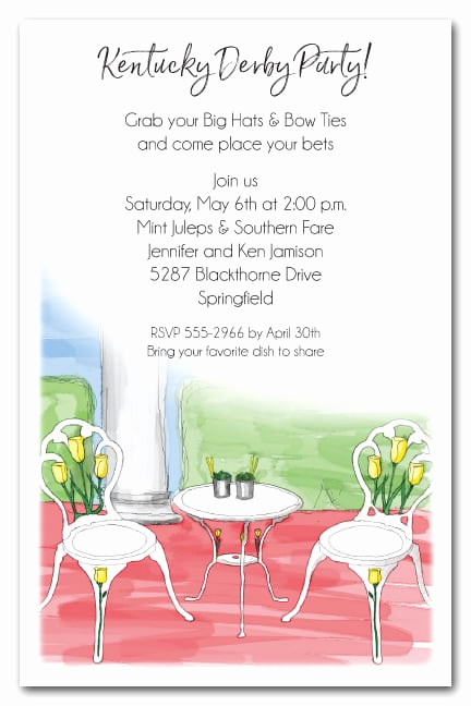 Kentucky Derby Party Invitation Wording Unique Kentucky Derby Party Invitations Mint Juleps Party
