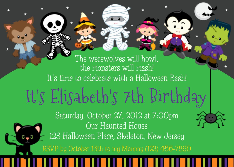 Kid Halloween Party Invitation Elegant Halloween Party Invitations for Kids – Festival Collections