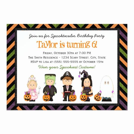 Kid Halloween Party Invitation Lovely Kids Costume Halloween Birthday Party Invitation I