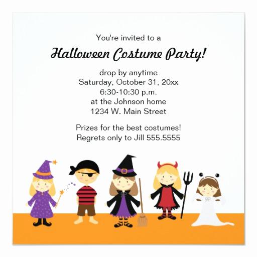 Kid Halloween Party Invitation Lovely Kids Halloween Costume Party Invitations