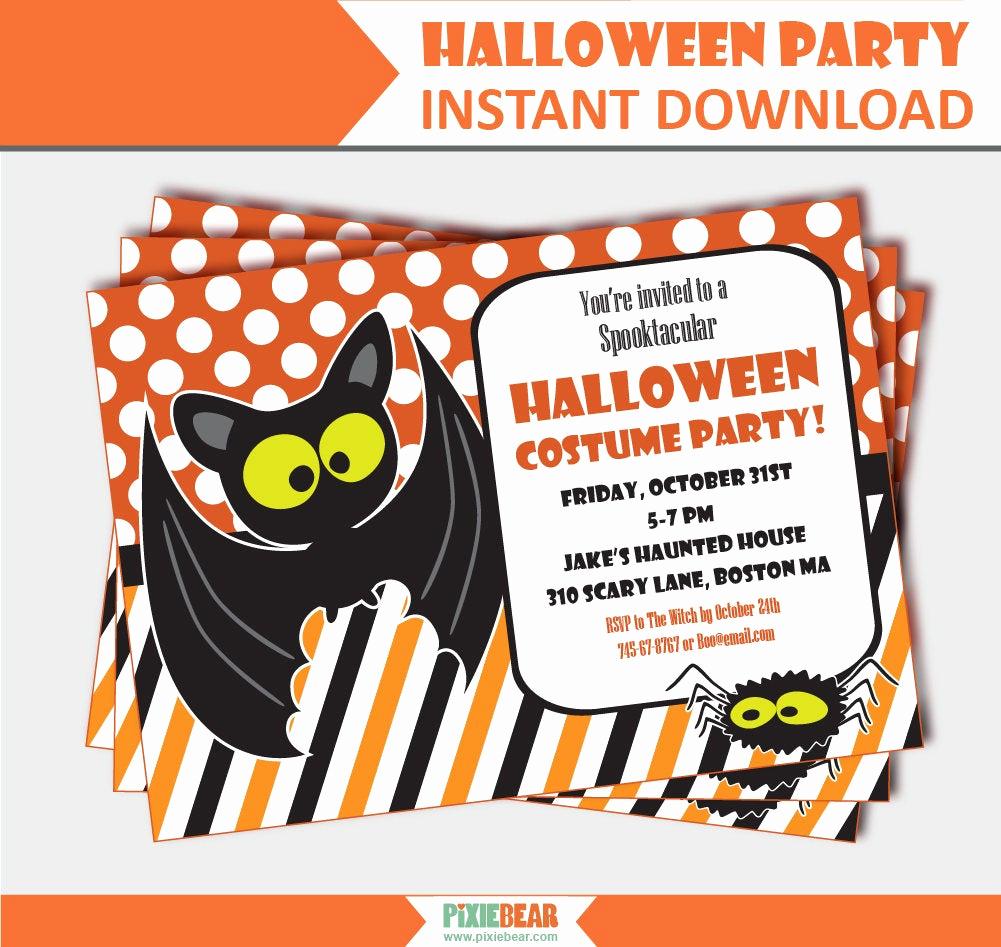Kid Halloween Party Invitation Lovely Kids Halloween Party Invitation Halloween Party