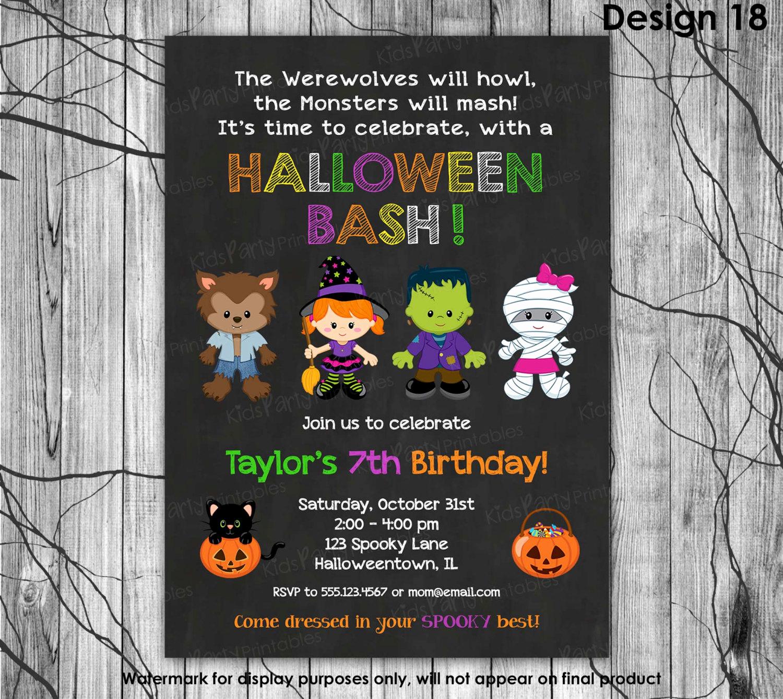 Kid Halloween Party Invitation Luxury Halloween Birthday Party Invitation Kids Halloween Invitation