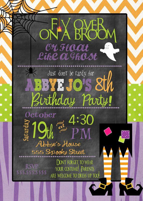 Kid Halloween Party Invitation Unique Halloween Party Invitation Kids Halloween Birthday Party