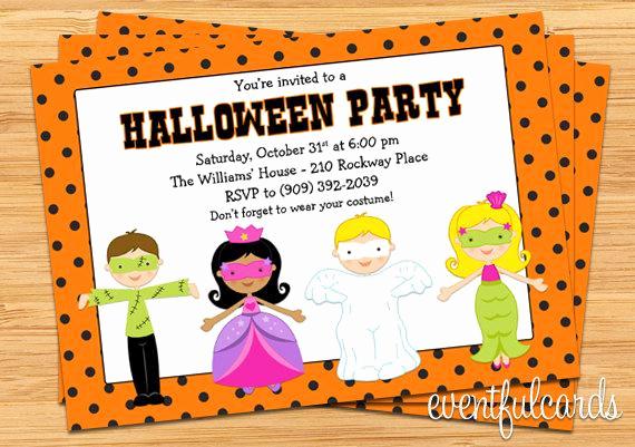 Kid Halloween Party Invitation Unique Kids Halloween Costume Party Invitation Printable