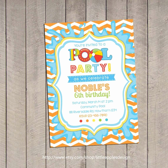 Kid Pool Party Invitation Awesome Kids Pool Party Invitation Pool Party Invitation Pool
