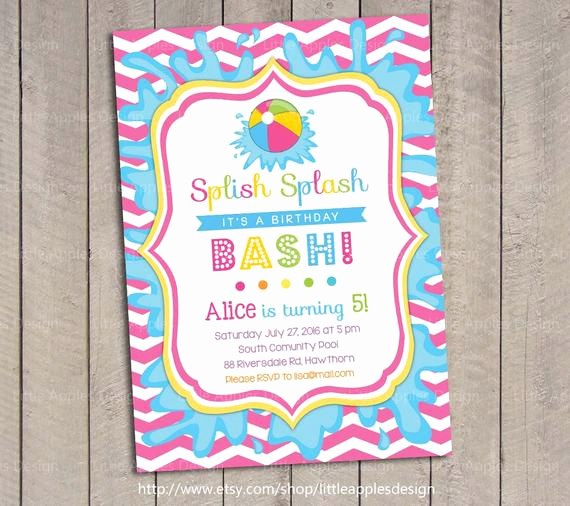 Kid Pool Party Invitation Awesome Pool Party Invitation Kids Pool Party Invitation Pool