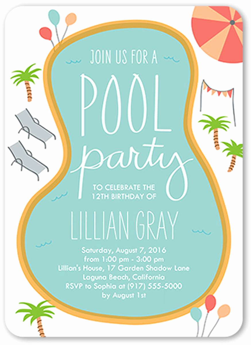 Kid Pool Party Invitation Beautiful 18 Birthday Invitations for Kids – Free Sample Templates