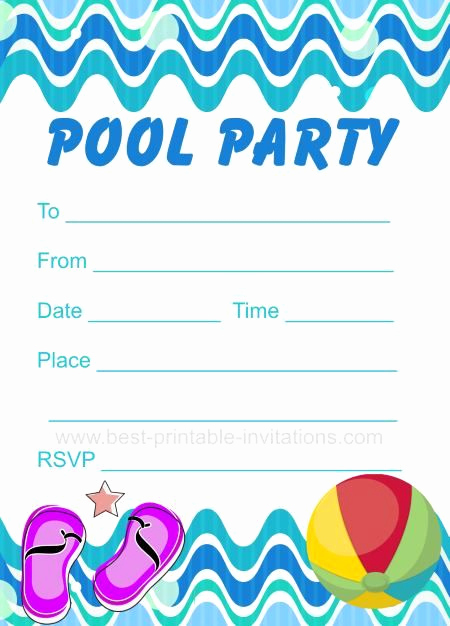 Kid Pool Party Invitation Best Of Pool Party Invitation Free Printable Party Invites From