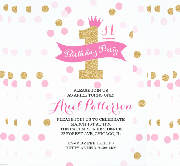 Kids Birthday Party Invitation Template Awesome 31 Birthday Party Invitation Templates Sample Example