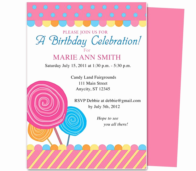 Kids Birthday Party Invitation Template Awesome Pin by Paulene Carla On Party Invitations
