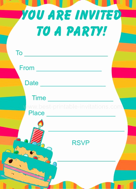 Kids Birthday Party Invitation Template Best Of Party Invitations for Kids