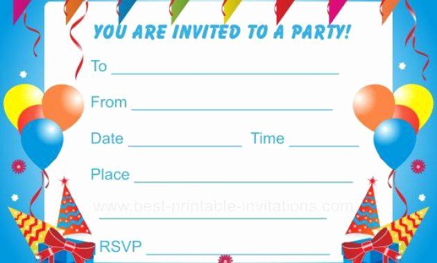 Kids Birthday Party Invitation Template Elegant Birthday Party Invitations Templates