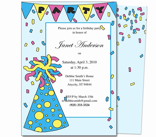 Kids Birthday Party Invitation Template Unique 23 Best Images About Kids Birthday Party Invitation