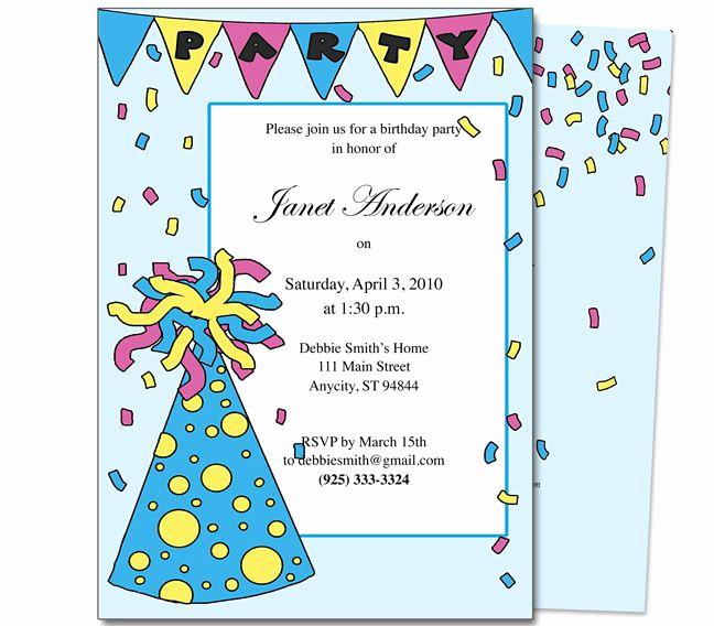 Kids Birthday Party Invitation Template Unique 23 Best Images About Kids Birthday Party Invitation