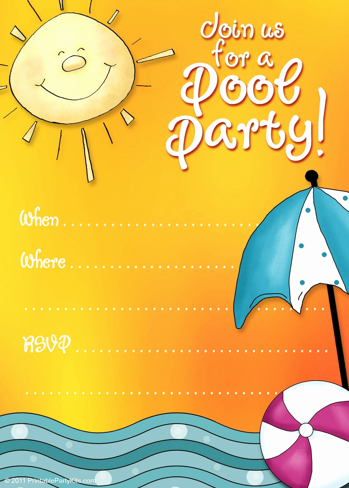Kids Pool Party Invitation Best Of Free Printable Party Invitations Summer Pool Party