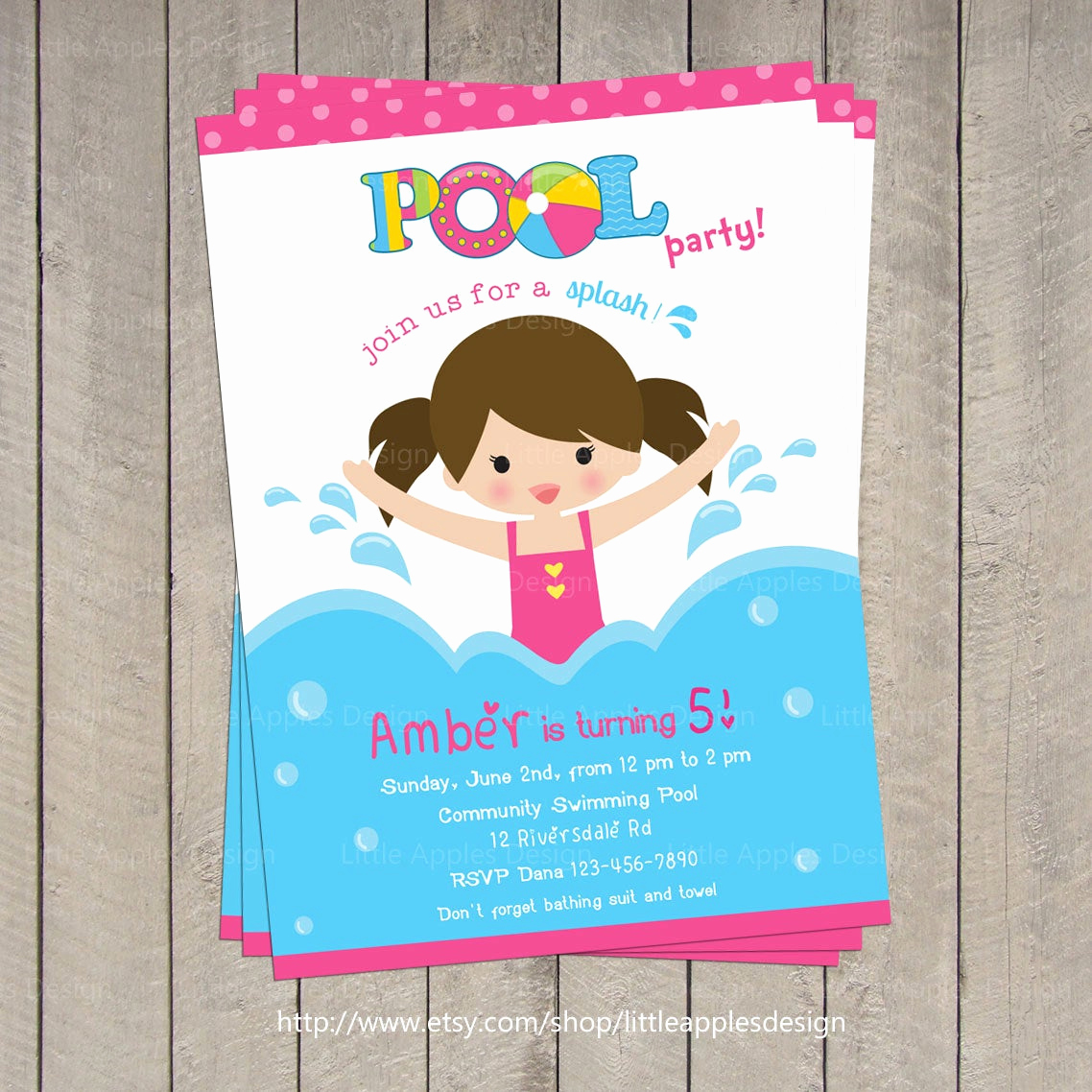 Kids Pool Party Invitation Best Of Pool Invitation Pool Party Invitation Kids Pool Party
