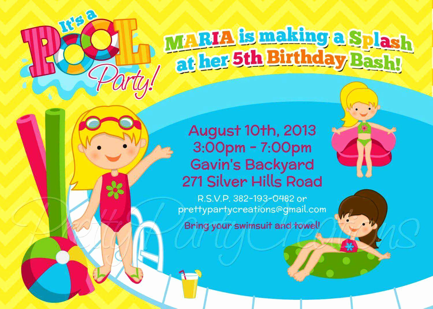 Kids Pool Party Invitation Best Of Pool Party Invitation Ideas
