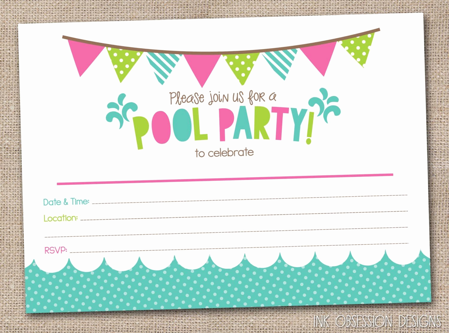 Kids Pool Party Invitation Elegant Free Printable Pool Party Birthday Invitations