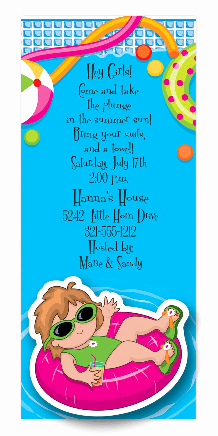 Kids Pool Party Invitation Luxury 71 Best Pool Party Invitations Images On Pinterest