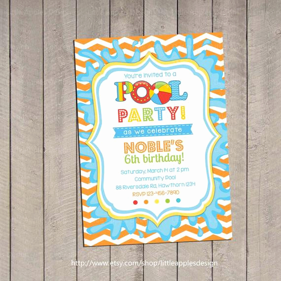 Kids Pool Party Invitation New Kids Pool Party Invitation Pool Party Invitation Pool