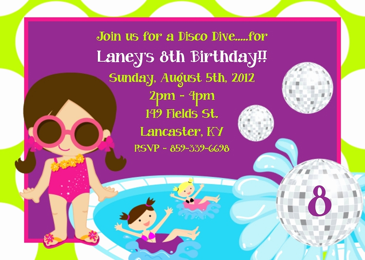 Kids Pool Party Invitation New Kids Pool Party Invitations Printable or Printed