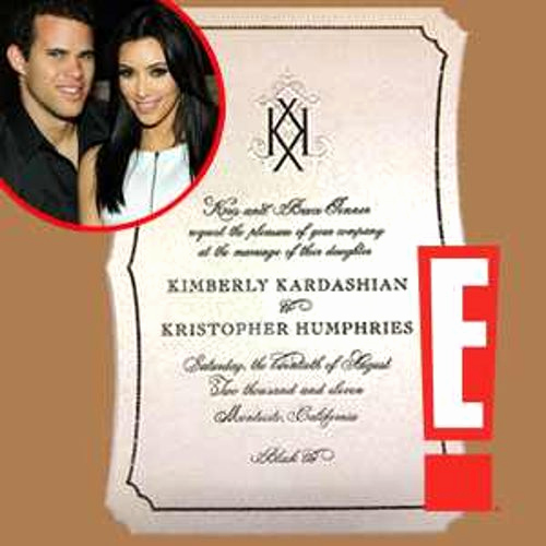 Kim Kardashian Wedding Invitation Awesome Check Out Kim Kardashian S Elegant and Ficial Wedding