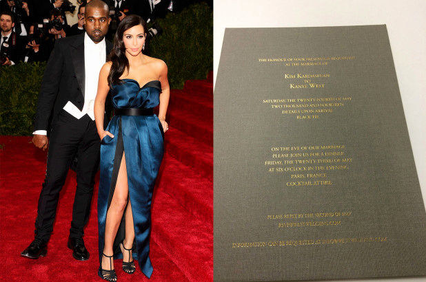 Kim Kardashian Wedding Invitation Beautiful Kim Kardashian and Kanye West's Wedding Invite Revealed