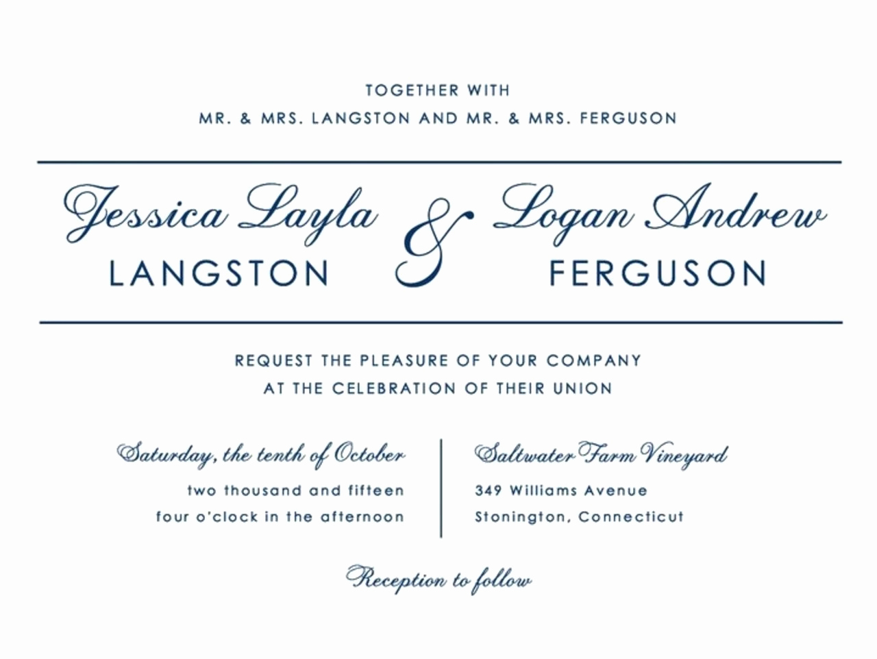 7 elegant wedding invitations