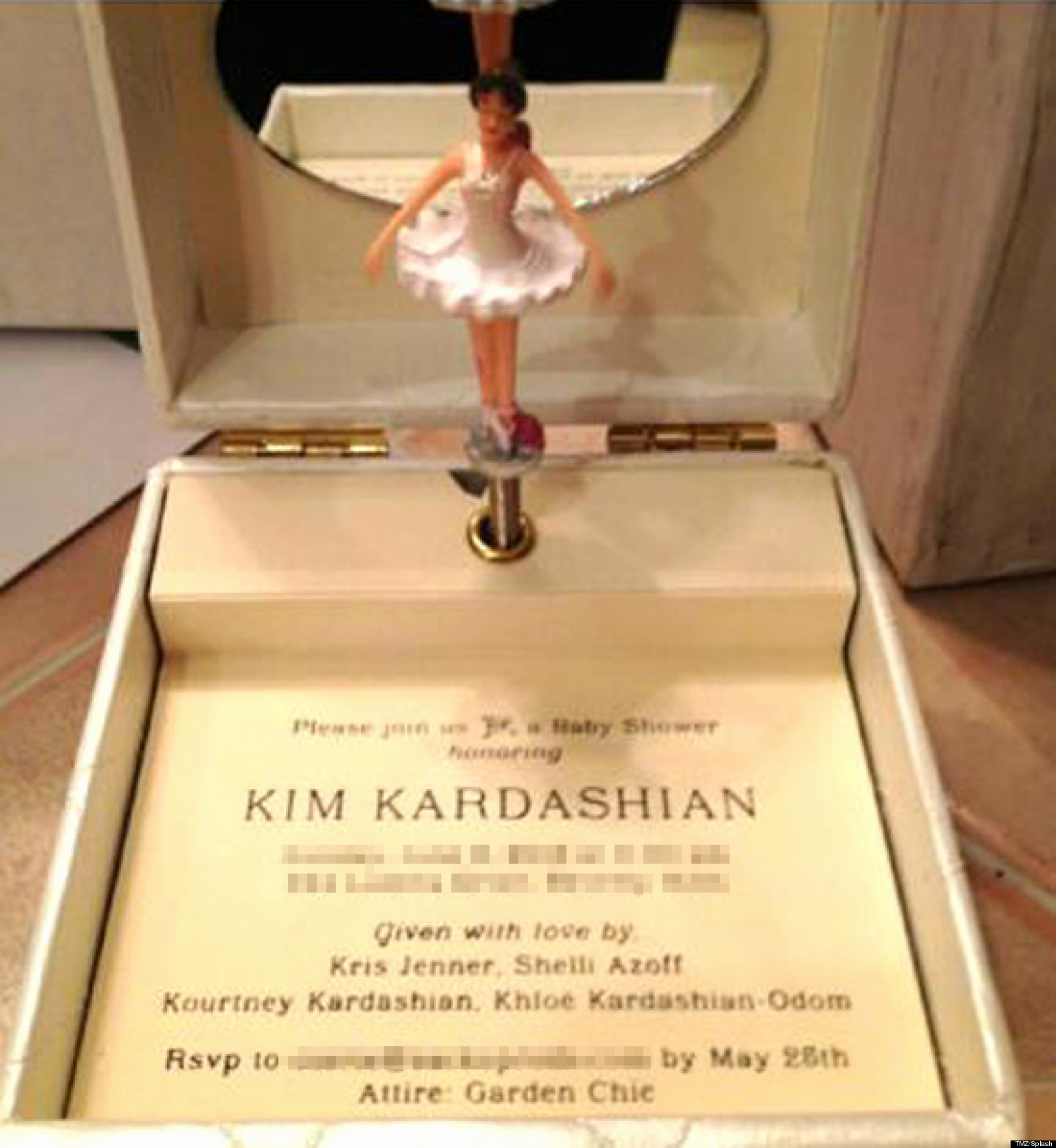 Kim Kardashian Wedding Invitation Best Of Kim Kardashian S Baby Shower Invite is the Most Over the