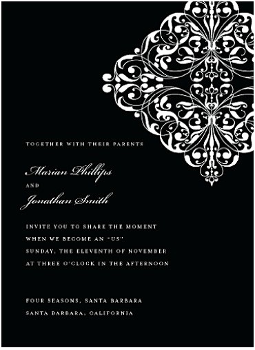 Kim Kardashian Wedding Invitation Elegant 5 Ultra Chic Black and White Wedding Invitations