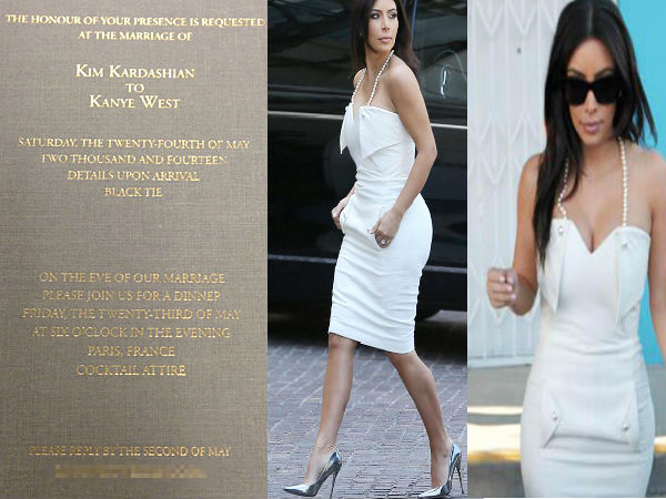 Kim Kardashian Wedding Invitation Inspirational Kim Kardashian & Kanye West Wedding Invitation Boldsky
