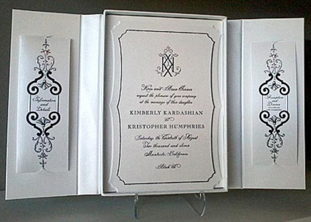 Kim Kardashian Wedding Invitation Lovely the Honour Of Your Presence is Requested Kim Kardashian