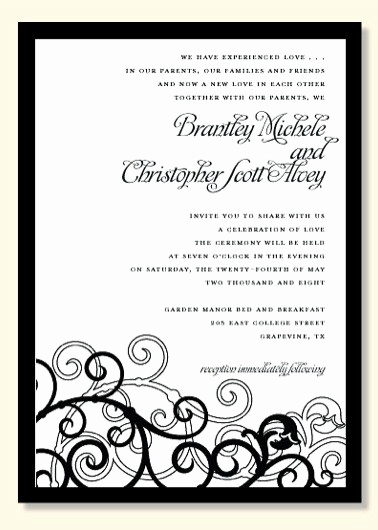 Kim Kardashian Wedding Invitation New 5 Ultra Chic Black and White Wedding Invitations