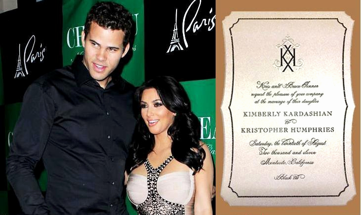 Kim Kardashian Wedding Invitation New Janustyles Kim Kardashian Wedding Invitation