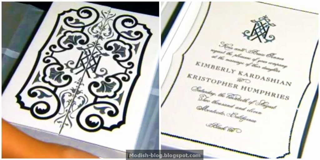 Kim Kardashian Wedding Invitation Unique Modish Blog Kim Kardashain S Wedding Invitation & More