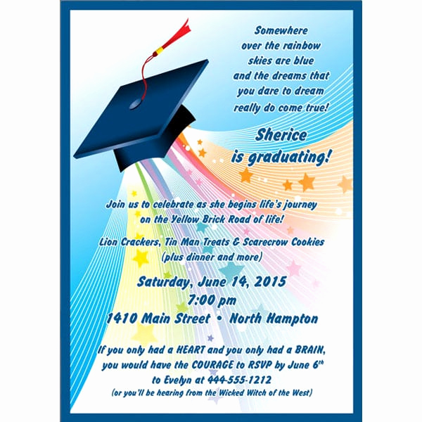 Kindergarten Graduation Invitation Ideas Awesome Kinder Graduation Party Invitation