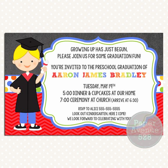 Kindergarten Graduation Invitation Ideas Elegant 21 Best Preschool Graduation Images On Pinterest