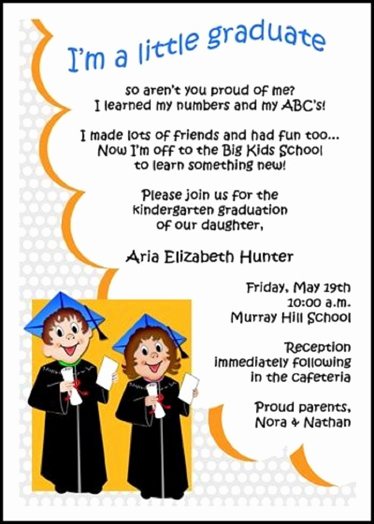 Kindergarten Graduation Invitation Ideas Elegant Preschool Graduation Invitation Ideas
