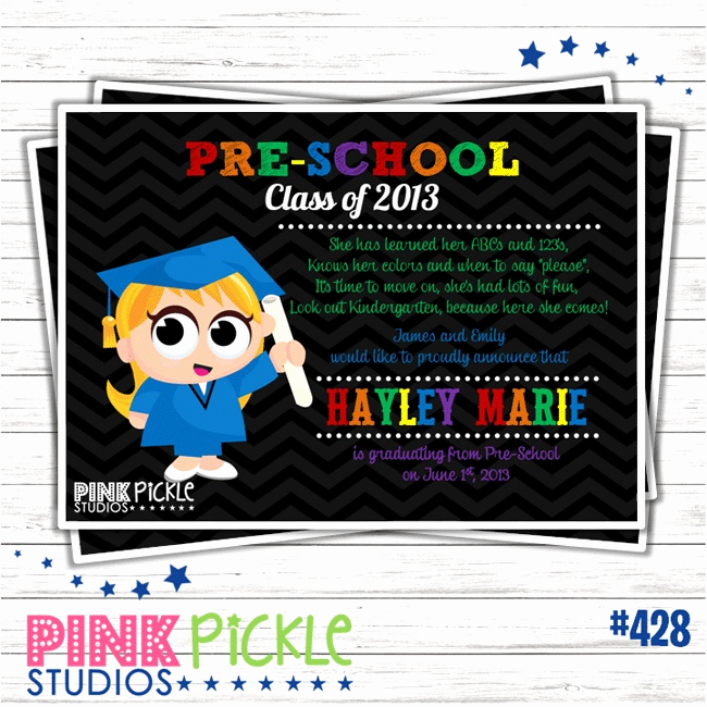 Kindergarten Graduation Invitation Ideas Elegant Preschool Graduation Party Invitation