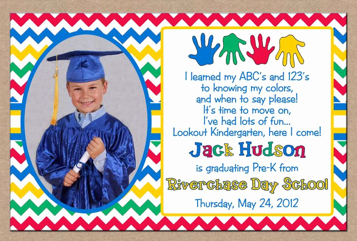 Kindergarten Graduation Invitation Ideas Inspirational Special Cute Printable Graduation Invitation Design with