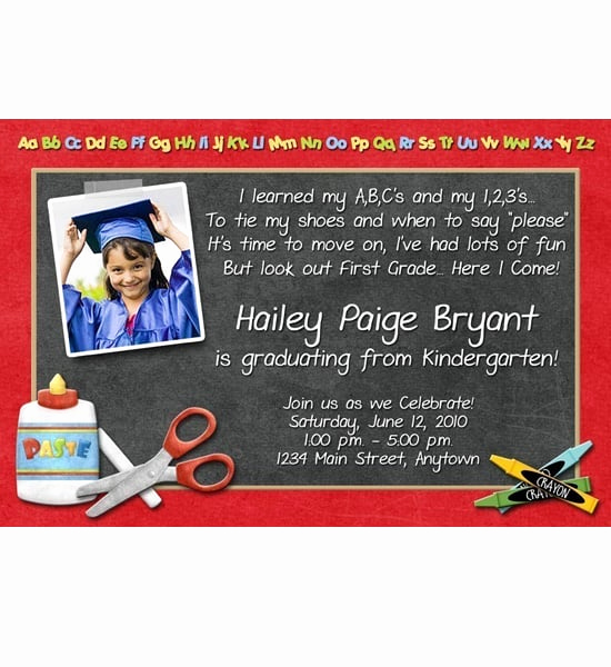 Kindergarten Graduation Invitation Ideas Lovely Invitations Preschool Graduation Party Ideas