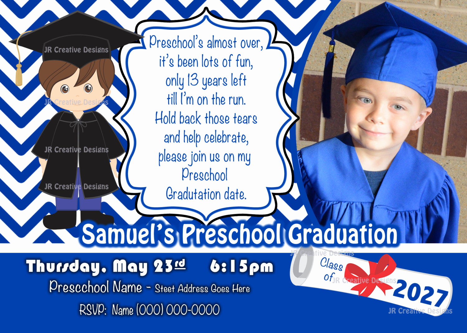 Kindergarten Graduation Invitation Template Beautiful Preschool Graduation Invitation Kindergarten Graduation