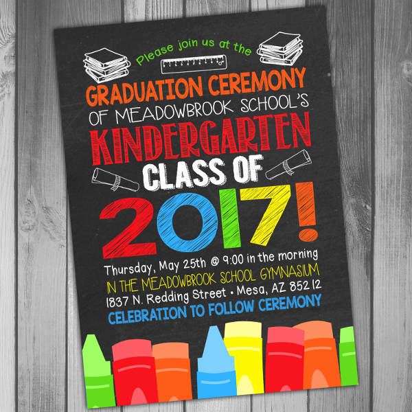 Kindergarten Graduation Invitation Template Elegant 34 Sample Invitation Templates Psd Ai