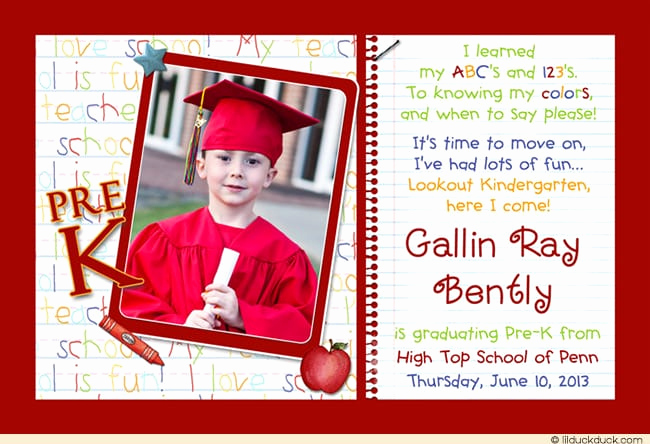 Kindergarten Graduation Invitation Template Elegant Kindergarten Graduation Invitation Template