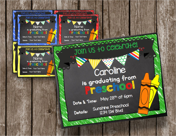 Kindergarten Graduation Invitation Template Inspirational 31 Examples Of Graduation Invitation Designs Psd Ai