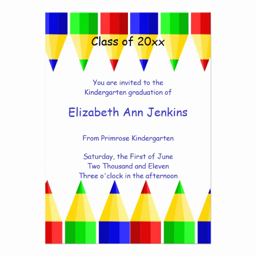Kindergarten Graduation Invitation Template Inspirational Cute Invitations Cute Announcements Invites Cafepress