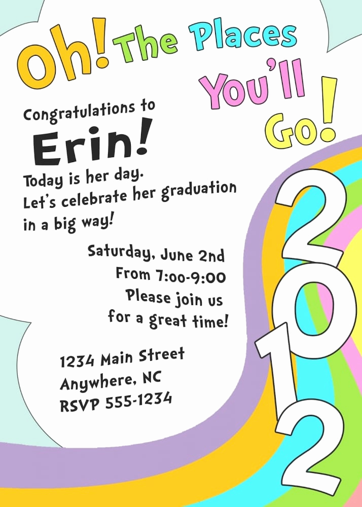 Kindergarten Graduation Invitation Template Inspirational Preschool Printable Graduation Invitation