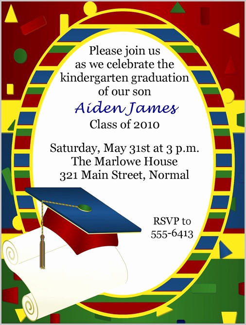 Kindergarten Graduation Invitation Template Lovely Graduation Invitation Card Maker Free Templates 1 Resume