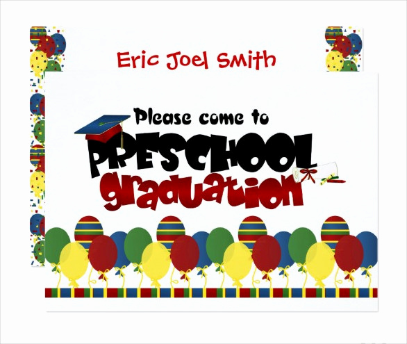 Kindergarten Graduation Invitation Templates Free Awesome 42 Printable Graduation Invitations Psd Ai Word